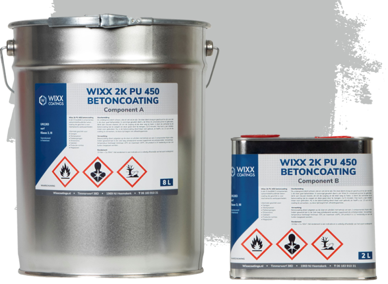 Wixx 2K PU 450 Betoncoating 10L   RAL 7035