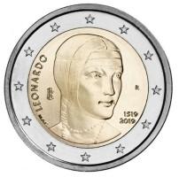 Italië 2 Euro 2019 Leonardo da Vinci