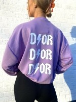 D ⚡ O R Oversized Sweater Lila One Size