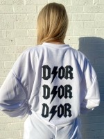 D ⚡ O R Oversized Sweater Wit Zwart One Size