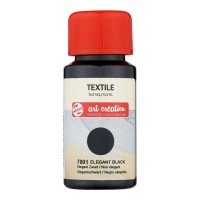 Talens Art Creation Textiel Color 50 ml Elegant Zwart 7001