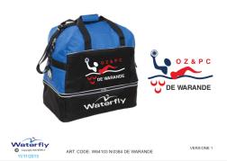 *Custom Design* De Warande Waterfly Zwemtas (Levertijd 4 to…