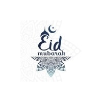 Wenskaart Eid Mubarak Blue