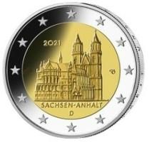 Duitsland 2 Euro 2021 de Dom van Maagdenburg - Saksen-Anhal…