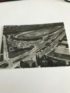Berlijn uitzicht vanaf de radiotoren op Avus 1960