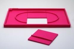 3D tactiele puzzel Renbaan Roze