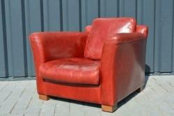 Leren fauteuil Baxter