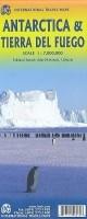 Wegenkaart - Landkaart Antarctica Zuidpool & Tierra del Fue…