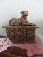 Rottweiler urn inclusief beeld