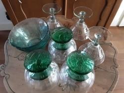 Partij groen glaswerk