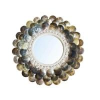 Bohemian Natuurlijke Wandspiegel - The Coin Mirror Brown M…