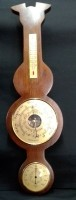 Rustieke Banjo Baro-/hygro-/thermometer, nst, 57.5 cm, zgst