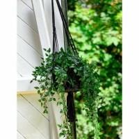 Bohemian Katoen Mand - The Macrame Plant Holder Black L