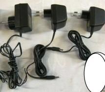 3 AC/DC omvormers 220v - 2 x 9.5v / 4.3v / gst