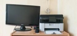 LG scherm en Printer Brother
