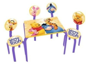 Winnie the Pooh Tafel met 4 stoelen