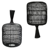Bohemian Rotan Vloerlamp - The Dumpling Floor Lamp Black