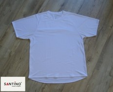 Wit sportshirt van Santino van 100% polyester (maat: XL).