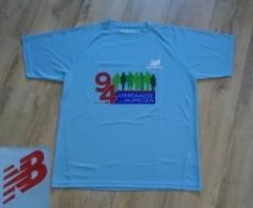 Blauw sportshirt van New Balance van polyester (maat: XL).