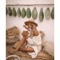 Bohemian Raffia Mand - The Raffia Deluxe Natural Set Van 2