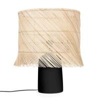 Bohemian Naturel Zwarte Tafellamp - The Rattan Table Lamp