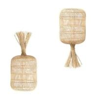 Bohemian Rotan Vloerlamp - The Dumpling Floor Lamp Natural
