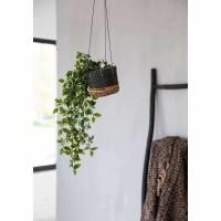 Bohemian Bananenblad Mand - Plant Hanger Natural Black