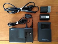 Nikon adapter, lader en EnEl1 Li-ion batterijen