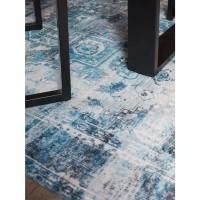 Vloerkleed Nora Turquoise 160 x 230 cm
