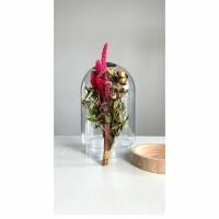 STILL FLOWER droogbloemen in stolp - DIY - Hout & Glas - Ro…