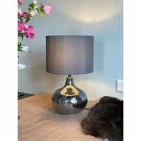 SPARKLE tafellamp - Glas- Zilver / Zwart / Grijs