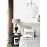 SAINT MARTIN hanglamp - Stof & Bamboe - Wit