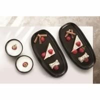 QUAN servies - Zwart - 4 kommen & 4 borden