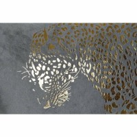 GOLDEN PANTHER kussen - Polyester - Goud, Beige & Grijs, Gr…