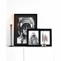 CLIPZ frame - Kunststof - Zwart - Set van 2 st.