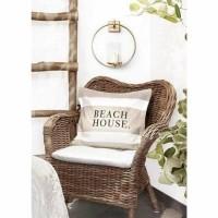 BEACH HOUSE kussenhoes - Katoen - Beige & Zwart - 50x50