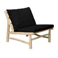 Bohemian stoel naturel zwart - The Island One Seater