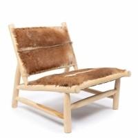 Bohemian stoel naturel bruin - The Island Fuzzy Chair