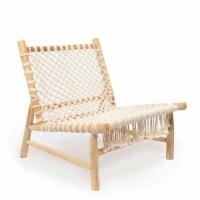 Bohemian stoel naturel met witte bespanning - The Island Ro…