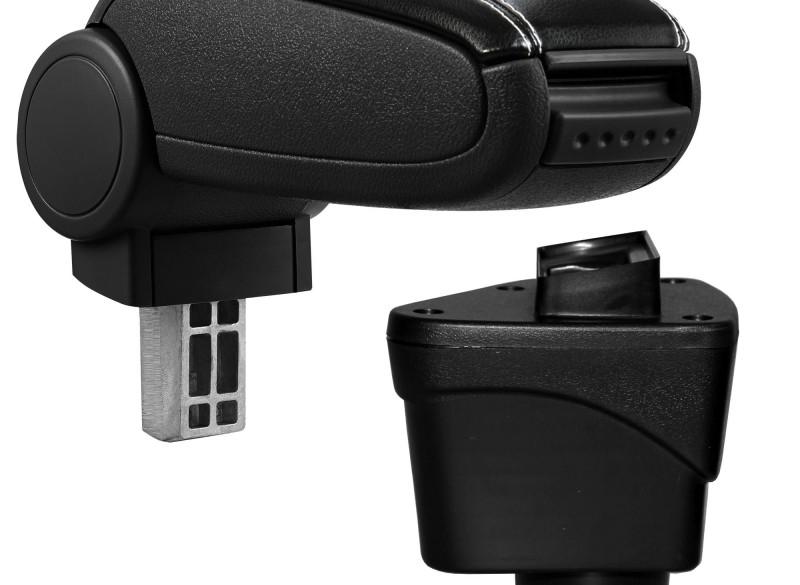 Armsteun Ford EcoSport II kunstleer - zwart met wit stiksel