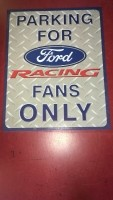 Ford racing fans bord