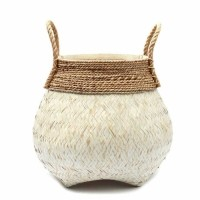 Bohemian Zeewier Mand - The Belly Natural White L