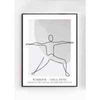 WARRIOR poster – Gedrukt papier – Beige, Zwart, Wit & Grijs…