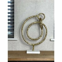 TOBERA ornament - Marmer & Metaal - Goud & Wit