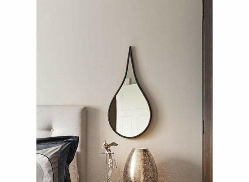 TEARDROP spiegel - Metaal & Spiegelglas - Antraciet