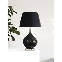 SERENITY lampenvoet - Glas & Metaal - Zilver & Zwart