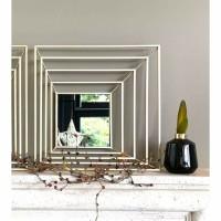 SHINE spiegel - Metaal & Spiegelglas - Goud