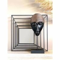 SHINE spiegel - Metaal & Spiegelglas - Zwart