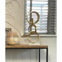 SEDANO ornament - Marmer & Metaal - Wit & Goud