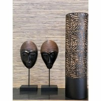 ROYAN lamp - Metaal - Bruin & Goud - Klein